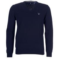 Textiel Heren Vesten / Cardigans Gant SUPER FINE LAMBSWOOL V-NECK Marine