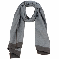 Accessoires Dames Sjaals Antik Batik ZOE Blauw / Bruin