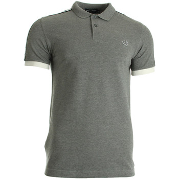 Textiel Heren T-shirts & Polo's Fred Perry Taped Pique Shirt Steel Marl grijs