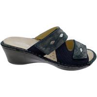 Schoenen Dames Leren slippers Calzaturificio Loren LOM2653bl blu