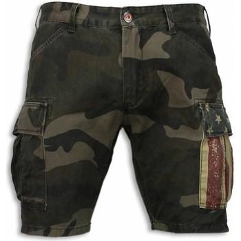 Textiel Heren Korte broeken / Bermuda's Bread & Buttons Korte Broeken Heren - Slim Fit Camouflage Shorts 25