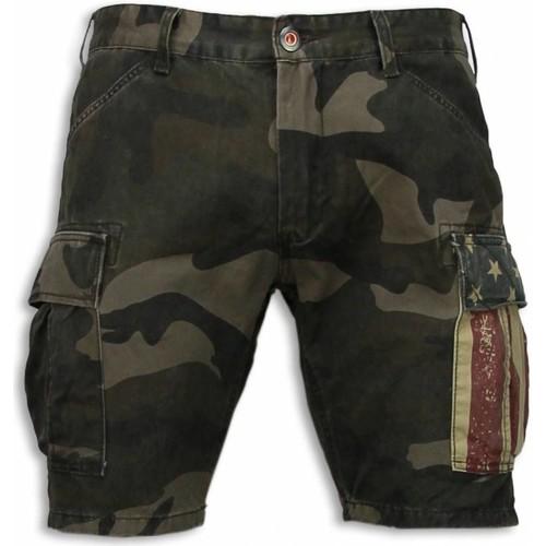 Textiel Heren Korte broeken / Bermuda's Bb Bread & Buttons Korte Broeken Camouflage Shorts Groen