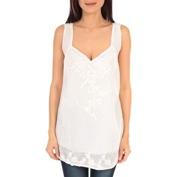 Textiel Dames Mouwloze tops Vision De Reve vision de rêve débardeur SC9020 blanc Wit