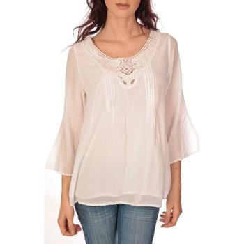 Textiel Dames Tops / Blousjes Vision De Reve vision de rêve tunique 9005 blanc Wit