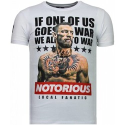 Textiel Heren T-shirts korte mouwen Local Fanatic Conor McGregor - Rhinestone T-shirt 1
