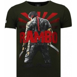 Textiel Heren T-shirts korte mouwen Local Fanatic Rambo Shine - Rhinestone T-shirt 25