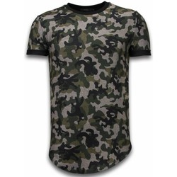 Textiel Heren T-shirts korte mouwen Justing Camouflaged Fashionable Long Fi Army Pattern Groen