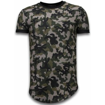 Textiel Heren T-shirts korte mouwen John H Camouflaged Fashionable T-shirt - Long Fit Shirt Army Pattern 25