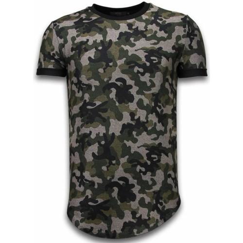 Textiel Heren T-shirts korte mouwen Justing Camouflaged Fashionable Long Fi Army Pattern Groen
