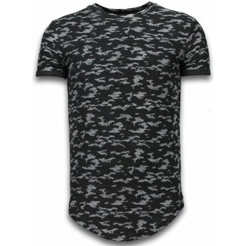 Textiel Heren T-shirts korte mouwen John H Fashionable Camouflage T-shirt - Long Fit Shirt Army Pattern 38