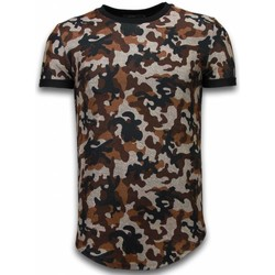 Textiel Heren T-shirts korte mouwen John H Camouflaged Fashionable T-shirt - Long Fit Shirt Army Pattern 28