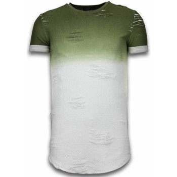 Textiel Heren T-shirts korte mouwen John H Flare Effect T-shirt - Long Fit Shirt Dual Colored 25