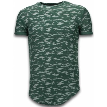 Textiel Heren T-shirts korte mouwen John H Fashionable Camouflage T-shirt - Long Fit Shirt Army Pattern 25