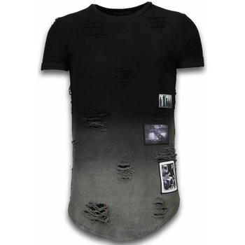 Textiel Heren T-shirts korte mouwen John H Pictured Flare Effect T-shirt - Long Fit Shirt Dual Colored 38