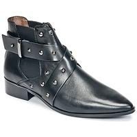 Schoenen Dames Laarzen Ikks LOW BOOTS BRIDGE ROCK Zwart