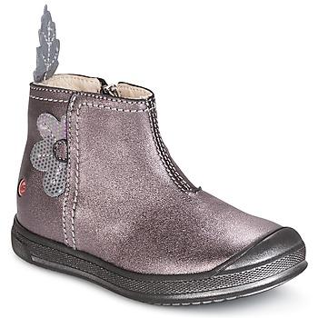 Schoenen Meisjes Laarzen GBB ROMANE Hout / Roze