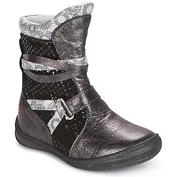 Schoenen Meisjes Laarzen GBB ROSANA Grijs