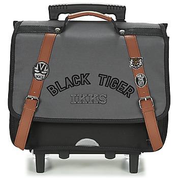 Tassen Jongens Tassen / Schooltassen op wieltjes Ikks BLACK TIGER CARTABLE TROLLEY 38CM Grijs / Zwart