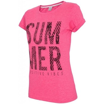 Textiel Dames T-shirts & Polo's 4F Womens T-shirt H4L17-TSD020APINK Roze