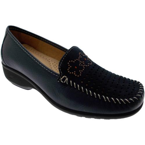 Schoenen Dames Mocassins Calzaturificio Loren LOK3971bl blu