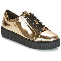 Schoenen Dames Lage sneakers MICHAEL Michael Kors TRAVOR LACE UP Goud