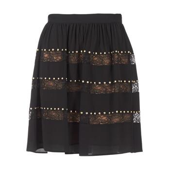 Textiel Dames Rokken MICHAEL Michael Kors HT/ LACE MIX Zwart