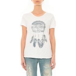 Textiel Dames T-shirts korte mouwen By La Vitrine Tee Shirt Blanc Cake V Wit