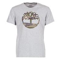 Textiel Heren T-shirts korte mouwen Timberland DUNSTAN RIVER CAMO PRINT Grijs