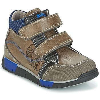 Schoenen Jongens Hoge sneakers Pablosky DENTELY Grijs / Blauw