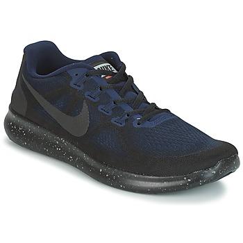 Schoenen Heren Running / trail Nike FREE RUN 2017 SHIELD Zwart / Blauw