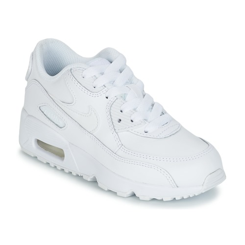 on sale 4fbfa 5025b Schoenen Kinderen Lage sneakers Nike AIR MAX 90 LEATHER PRE-SCHOOL Wit