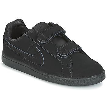 Schoenen Jongens Lage sneakers Nike COURT ROYALE PRE-SCHOOL Zwart