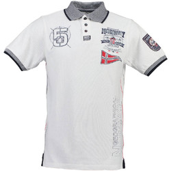 Textiel Heren Polo's korte mouwen Geographical Norway Polo Wit