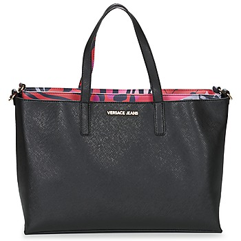 Tassen Dames Tote tassen / Boodschappentassen Versace Jeans ANTALOS Zwart / Rood / Multi