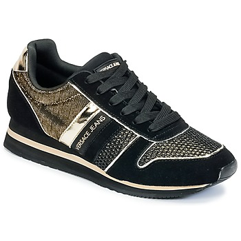 Schoenen Dames Lage sneakers Versace Jeans LETRE Zwart / Goud