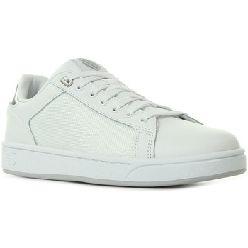 Schoenen Dames Sneakers K-Swiss Clean Crtt Cmff White Silver Wit