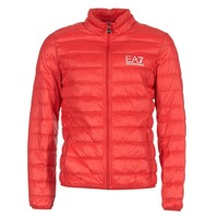 Textiel Heren Dons gevoerde jassen Emporio Armani EA7 TRAIN CORE ID DOWN LIGHT JKT Rood