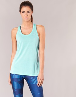 Textiel Dames Mouwloze tops Under Armour TECH TANK - SOLID Groen