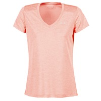 Textiel Dames T-shirts korte mouwen Under Armour TECH SSV - TWIST Koraal