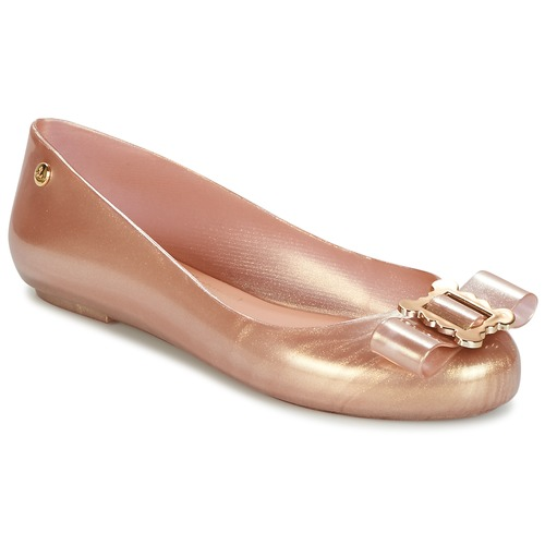 Schoenen Dames Ballerina's Melissa VW SPACE LOVE 18 ROSE GOLD BUCKLE Roze / Goud