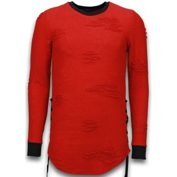 Textiel Heren Sweaters / Sweatshirts John H Destroyed Look Trui - Side Laces Long Fit Sweater 8