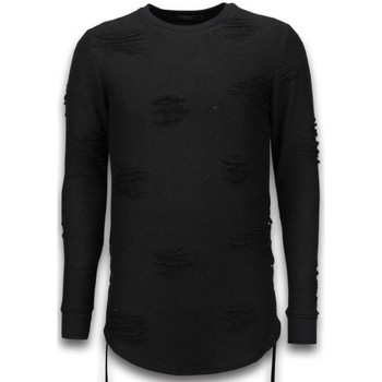 Textiel Heren Sweaters / Sweatshirts John H Destroyed Look Trui - Side Laces Long Fit Sweater 38