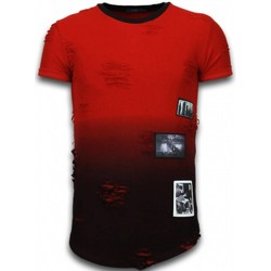 Textiel Heren T-shirts korte mouwen John H Pictured Flare Effect T-shirt - Long Fit Shirt Dual Colored 8