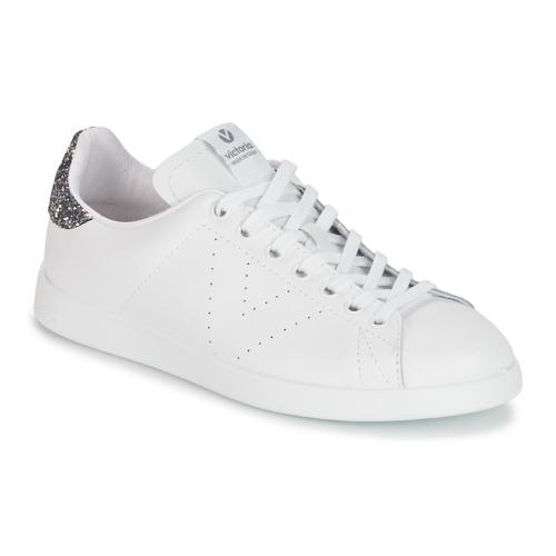 Schoenen Dames Lage sneakers Victoria DEPORTIVO BASKET PIEL Wit / Grijs