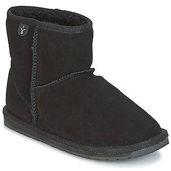 Schoenen Meisjes Laarzen EMU WALLABY MINI Zwart