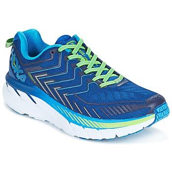 Schoenen Heren Running / trail Hoka one one CLIFTON 4 Blauw / Groen