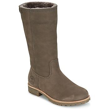 Schoenen Dames Hoge laarzen Panama Jack BAMBINA Grijs
