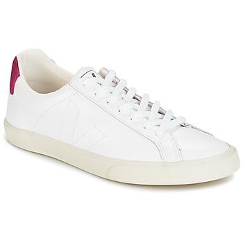 Schoenen Dames Lage sneakers Veja ESPLAR LT Wit / Pailletten / Roodpaars