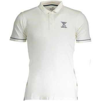Textiel Dames Polo's korte mouwen Avx Avirex Dept AVBWPO01FIRE Polo shirt short sleeves Men white 1-ALPHA white 1-ALPHA