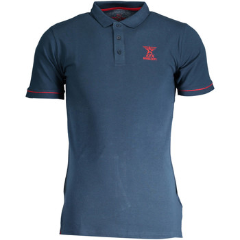 Textiel Dames Polo's korte mouwen Avx Avirex Dept AVBWPO01FIRE Polo shirt short sleeves Men blue 13-BRAVO blue 13-BRAVO